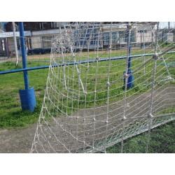 Plasă fotbal poliamida diam. 3mm, a:100mm 7,5×2,5x2m